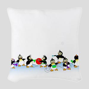 Penguin Band Woven Throw Pillow