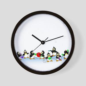 Penguin Band Wall Clock
