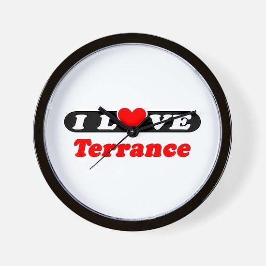 I Love Terrance Wall Clock