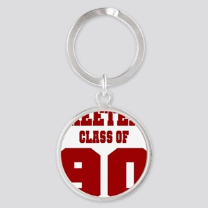 MHS Class Of 1990 Round Keychain