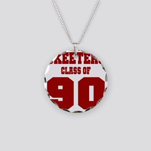 MHS Class Of 1990 Necklace Circle Charm