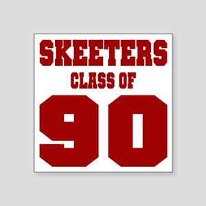 "MHS Class Of 1990 Square Sticker 3"" x 3"""