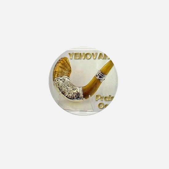 Yehovah Shofar Mini Button