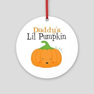 Daddys Little Pumpkin Round Ornament