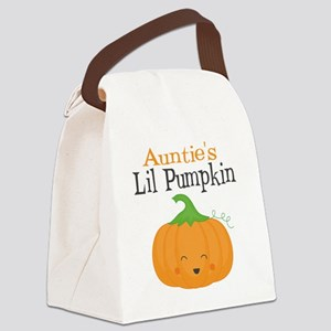 Aunties Little Pumpkin Canvas Lunch Bag