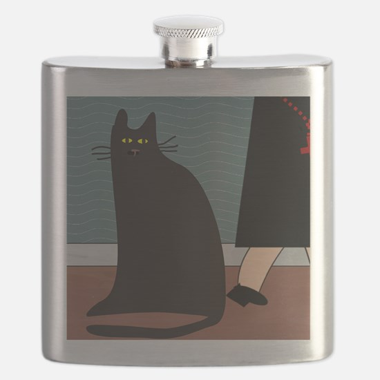 cat and nun blanket Flask