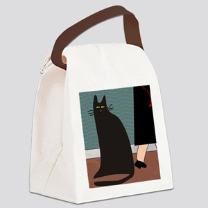 cat and nun blanket Canvas Lunch Bag