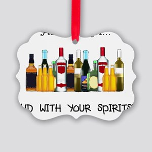 And With Your Spirits Picture Ornament