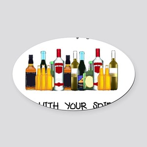 And With Your Spirits Oval Car Magnet
