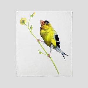Yellow Finch - Get a Grip - Artwork  Throw Blanket