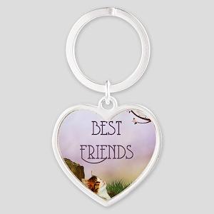 bf__shower_curtain Heart Keychain