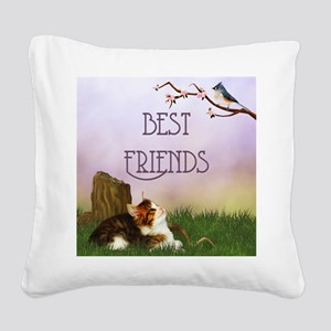 bf__shower_curtain Square Canvas Pillow