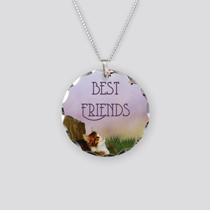 bf__shower_curtain Necklace Circle Charm