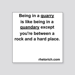 "Quarry Square Sticker 3"" x 3"""