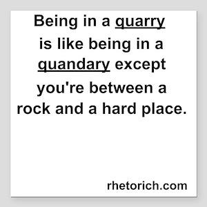 "Quarry Square Car Magnet 3"" x 3"""