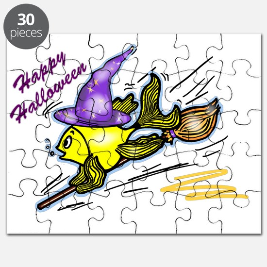 Wizard Fish - funny cute drawing Puzzle