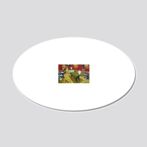 Vincent Van Gogh Night Cafe 20x12 Oval Wall Decal