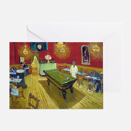 Vincent Van Gogh Night Cafe Greeting Card