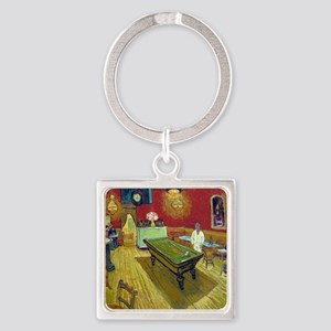 Vincent Van Gogh Night Cafe Square Keychain