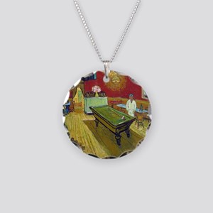 Vincent Van Gogh Night Cafe Necklace Circle Charm