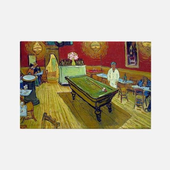 Vincent Van Gogh Night Cafe Rectangle Magnet