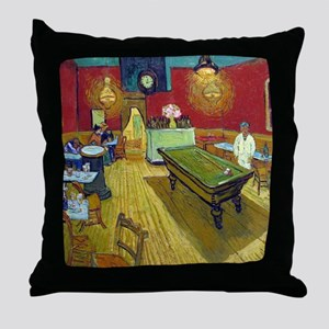 Vincent Van Gogh Night Cafe Throw Pillow