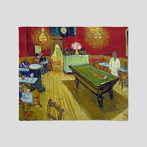 Vincent Van Gogh Night Cafe Throw Blanket