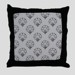 damask_shower_curtain Throw Pillow