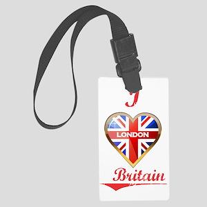 I Love London Large Luggage Tag