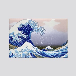 LAPTOP -Gr8 Wave-Hokusai Rectangle Magnet