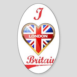 I Love London Sticker (Oval)
