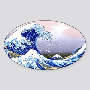 LAPTOP -Gr8 Wave-Hokusai Sticker (Oval)