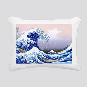 LAPTOP -Gr8 Wave-Hokusai Rectangular Canvas Pillow