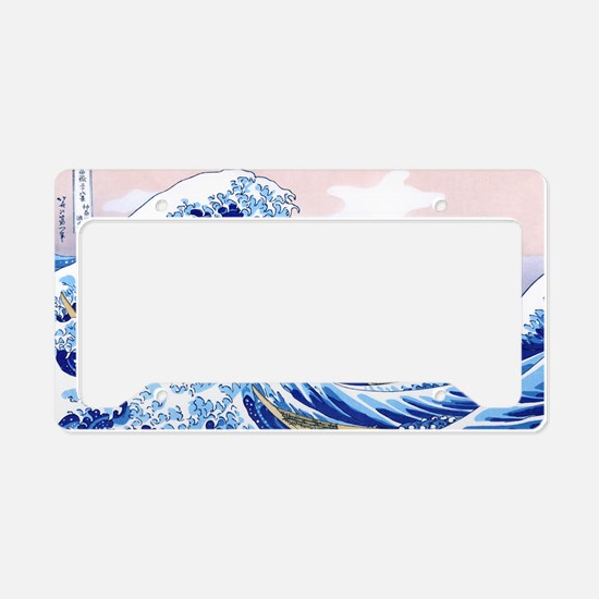 LAPTOP -Gr8 Wave-Hokusai License Plate Holder