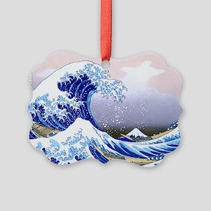 LAPTOP -Gr8 Wave-Hokusai Picture Ornament