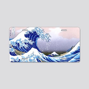 LAPTOP -Gr8 Wave-Hokusai Aluminum License Plate