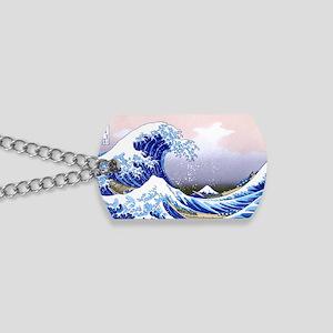 LAPTOP -Gr8 Wave-Hokusai Dog Tags