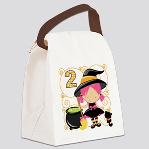 Girls Halloween 2 Canvas Lunch Bag