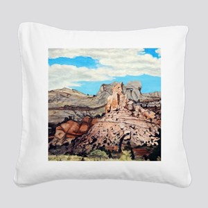 Peek-a-boo Arch at Capitol Re Square Canvas Pillow