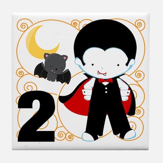 Boys Halloween 2 Tile Coaster