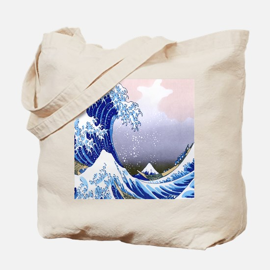 IPAD  Folio 3 -Gr8 Wave-Hokusai Tote Bag