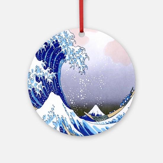 IPAD  Folio 3 -Gr8 Wave-Hokusai Round Ornament
