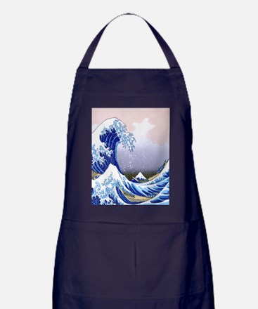 IPAD  Folio 3 -Gr8 Wave-Hokusai Apron (dark)