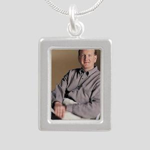 winner winner Silver Portrait Necklace