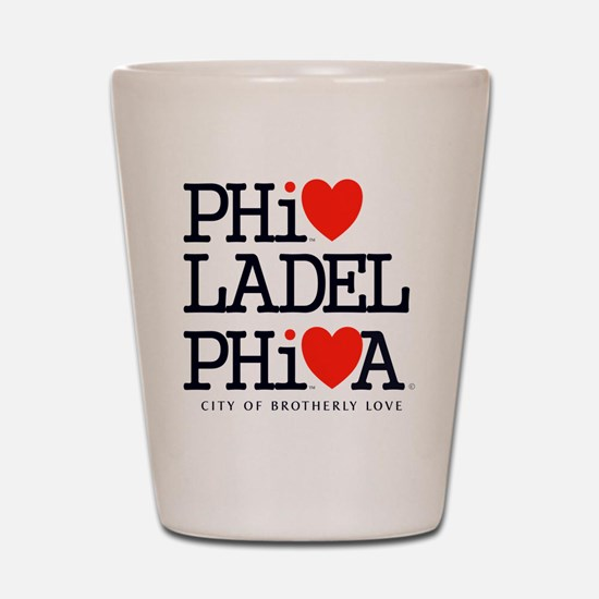 Philadelphia City of Brotherly Love Cla Shot Glass