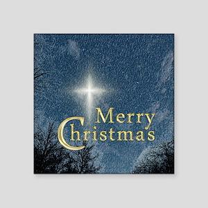 "The Bethlehem Star Square Sticker 3"" x 3"""