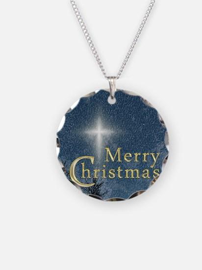 The Bethlehem Star Necklace Circle Charm