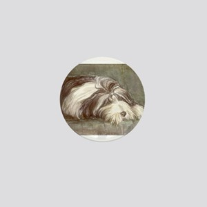 Bearded Collie Mini Button