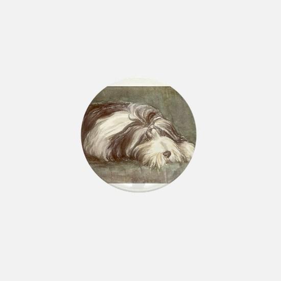 Bearded Collie Mini Button
