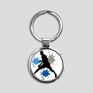 Looper black Round Keychain